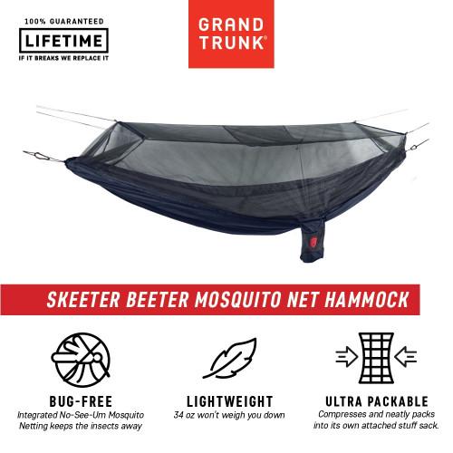 Grand Trunk Skeeter Beeter Xt Hammock Navy/Forest Green