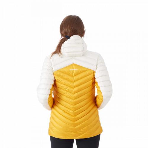 Mammut Broad Peak In Hooded Jacket Women Golden-Bright White