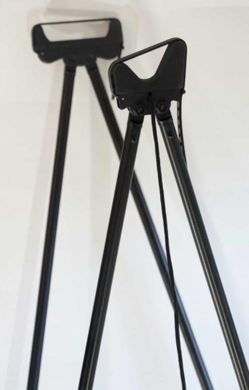 Mjølner 4-Ben Skytestokk Alu Black 160-175 cm