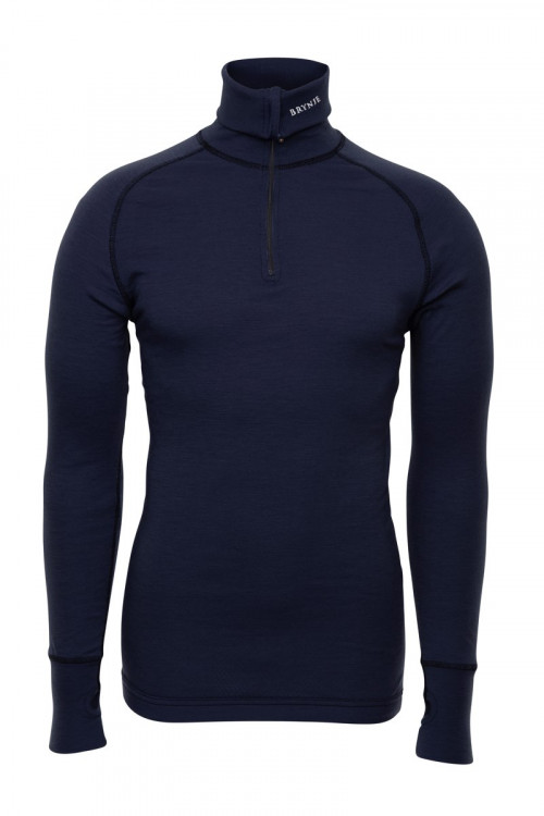 Brynje Arctic Zip Polo Shirt Navy