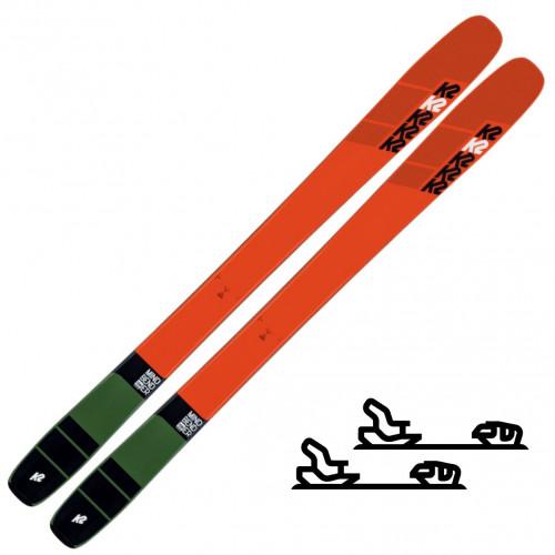 K2 Skis Mindbender Team Oransje - Slalomskipakke for junior/barn