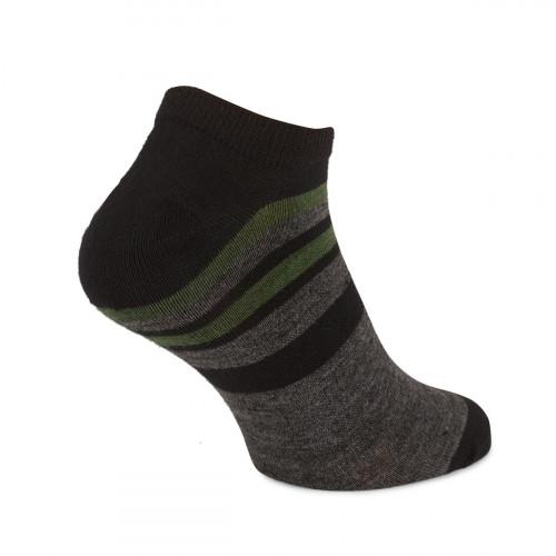 Urberg Striped Wool Shaftless Green/Black