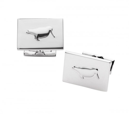 Laksen Engraved Woodcock Cufflinks - Silver Silver