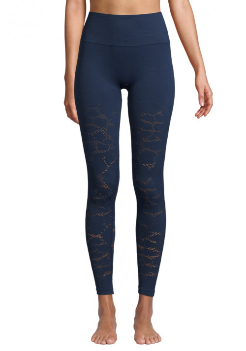 Casall Seamless Structure Tights Pushing Blue