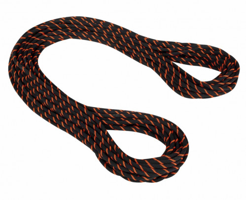 Mammut 8.7 Alpine Sender Dry Rope 50 m Black-Safety Orange
