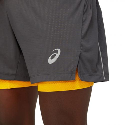 Asics Fujitrail Short M's Graphite Grey/Sunflower