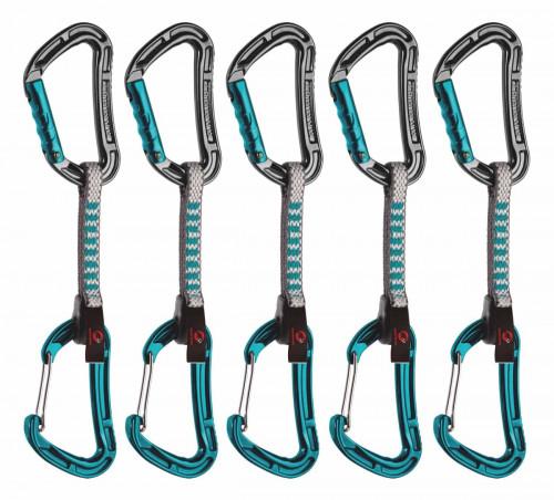 Mammut 5er Pack Bionic Express Sets Straight Gate/Wire Gate, Basalt-Aqu 10 cm