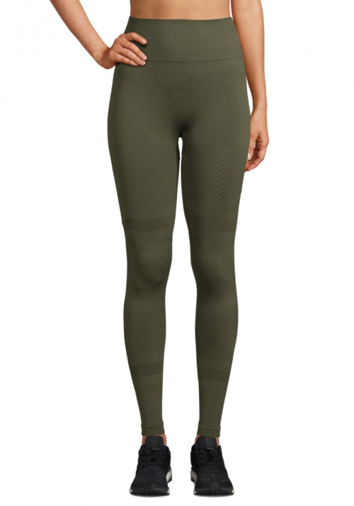 Casall Seamless Blocked Tights Forest Green