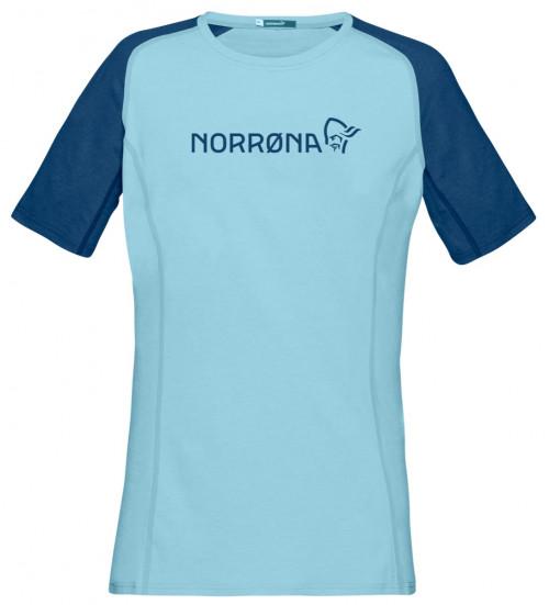 Norrøna Fjørå Equaliser Lightweight T-Shirt (W) Trick Blue