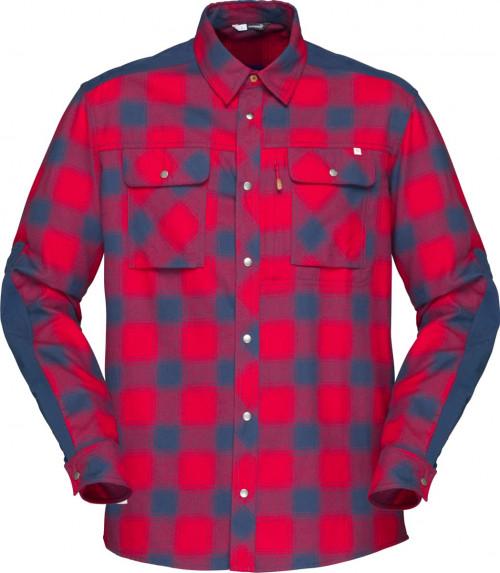 Norrøna Svalbard Flannel Shirt (M) Jester Red