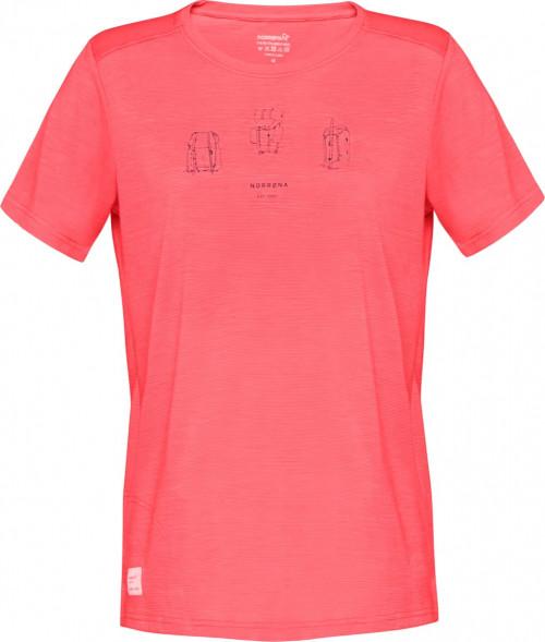 Norrøna Svalbard Wool T-Shirt (W) Crisp Ruby