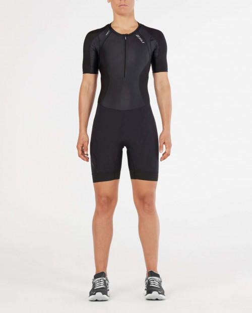 2XU Comp Sleeved Trisuit-W Black/Black