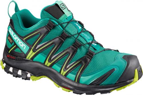 Salomon Shoes Xa Pro 3d Gtx Women's Deep Lake/Black/Lime Green