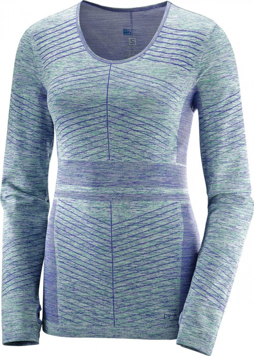 Salomon Elevate Move'On LS Tee Women's Bl/Waterfall
