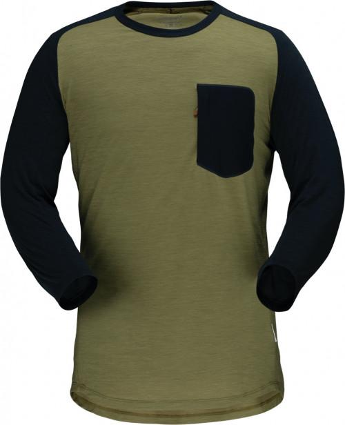 Norrøna Skibotn Wool 3/4 T-Shirt M's Olive Drab