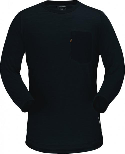 Norrøna Skibotn Wool 3/4 T-Shirt M's Caviar