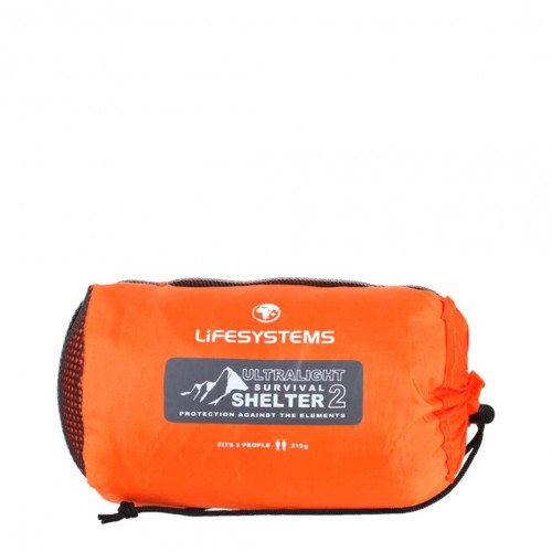 Lifesystems Vindsekk Ultralightsurvival Shelt2 Orange 140x90x45 cm