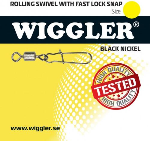 Wiggler Rolling Lek. Lock Snap Black Nickel