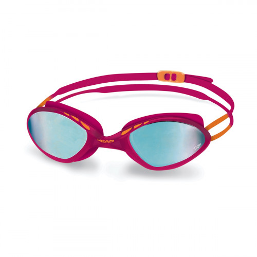 Head Tiger Mid Race Mirrored Goggle Rasberry/Blue