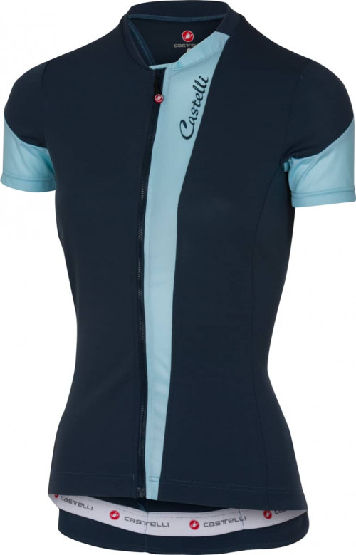 Castelli Spada Jersey Fz Midnight Navy/Pale Blue