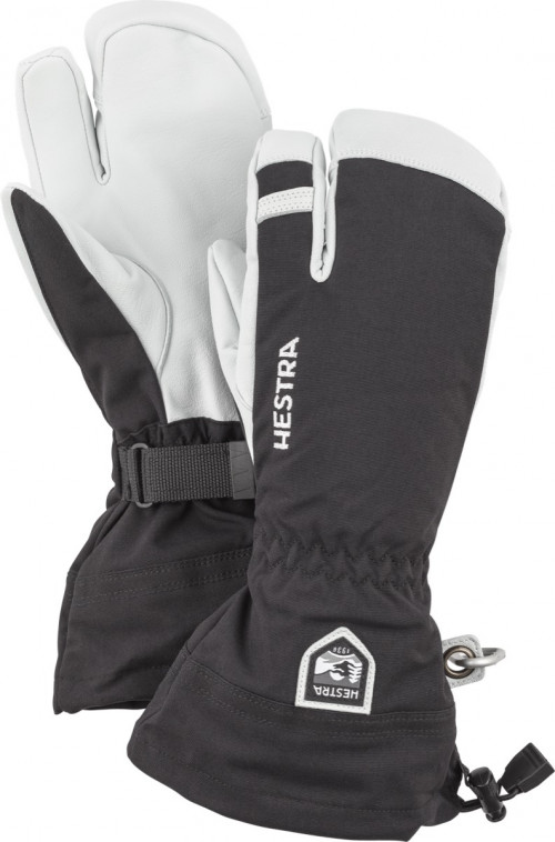 Hestra Army Leather Heli Ski - 3 Finger Svart