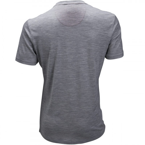 Ulvang Summer Wool Tee Mens Grey Melange/Cherry Tomato