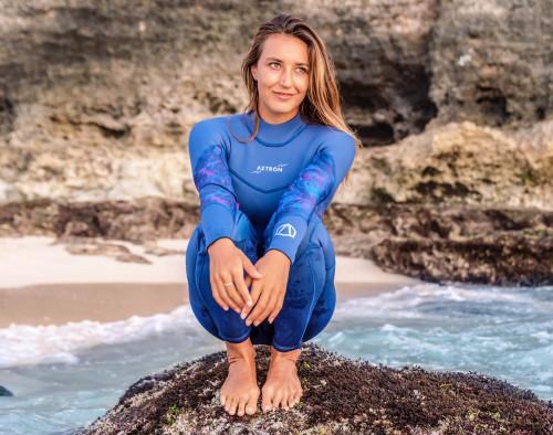 Aztron Aurora Women's Full Suit Blue