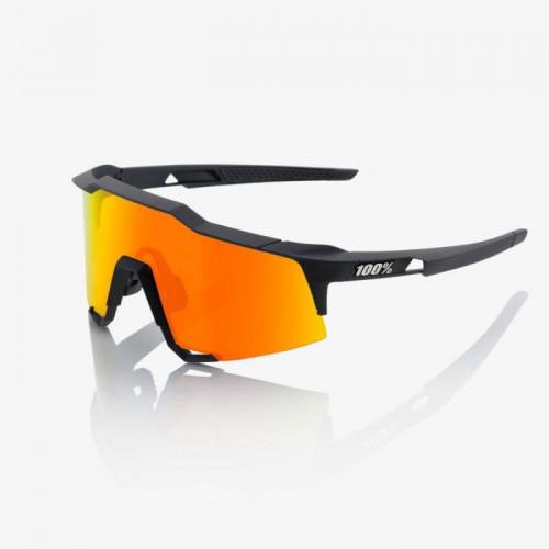 100% Speedcraft Soft Tact Black - Hiper Red Multilayer Mirror Lens