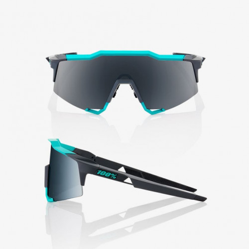 100% Speedcraft Soft Tact Celeste Green/Cement Grey - Black Mirror Lens