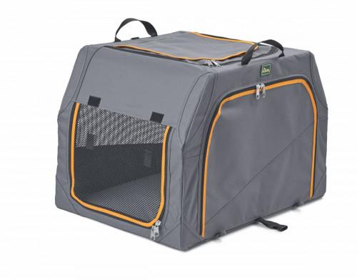Hunter Dog Transport Box Alu-Frame Anthracite/Orange 91x61x58