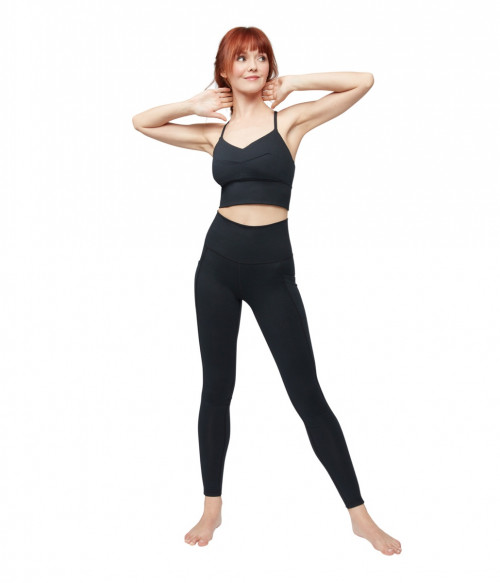 Manduka Darted Bra Black