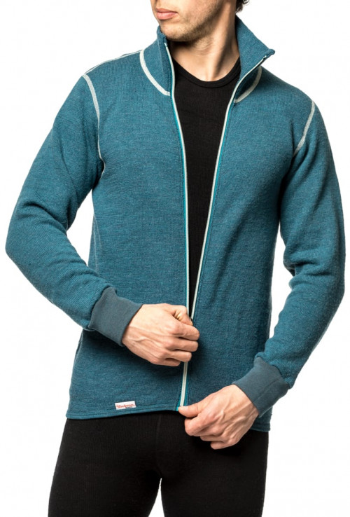Woolpower Full Zip Jacket 400 Color Collection Petrol/Champ