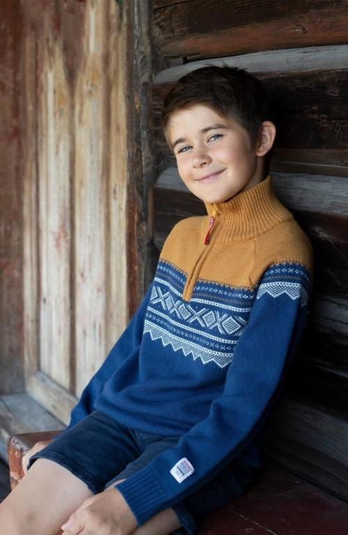 Marius Kids Ullgenser Med Zip Stellar