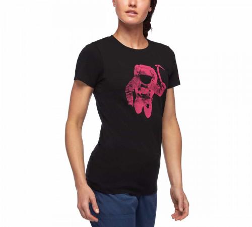 Black Diamond W SS Spaceshot Tee Black/Ultra Pink