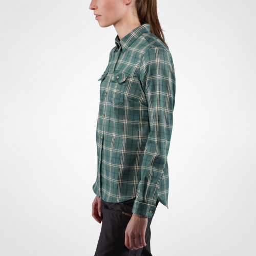Fjällräven Fjällglim Stretch Shirt LS Women Frost Green