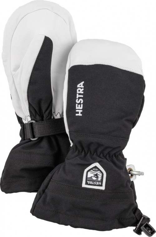 Hestra Army Leather Heli Ski Jr. - Mitt Svart