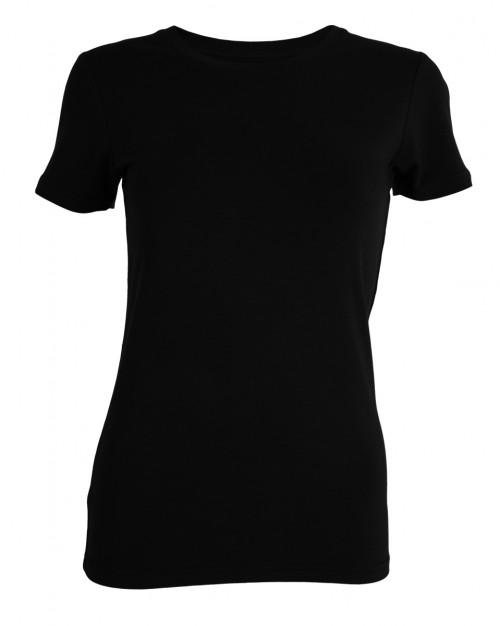 Tufte Wear Womens Crew Neck Tee Black Beauty