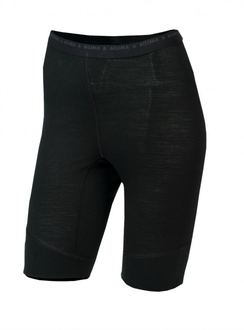 Aclima LightWool Shorts Long Women's Jet Black