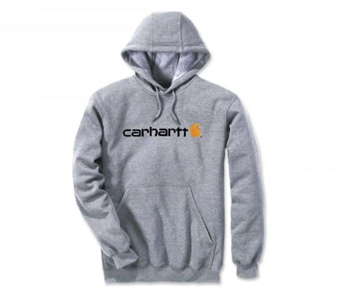 Carhartt Signature Logo Sweatshirt Heather Grey