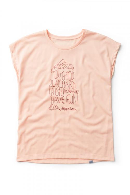 Houdini Women's Big Up Message Tee Beach Peach