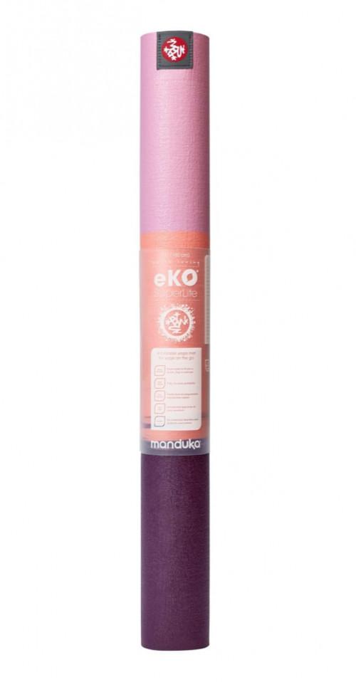 Manduka Eko Superlite Yoga Mat Fuchsia Stripe 180cm
