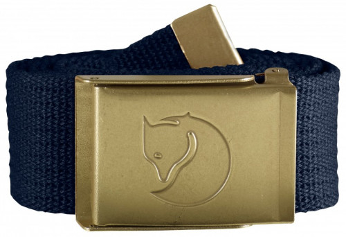 Fjällräven Canvas Brass Belt 4cm Dark Navy