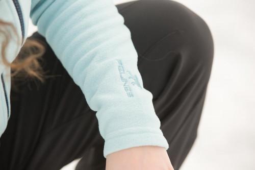 Felines W's Fleece Afternoon Hoodie 1/1 Zipper Aquamarine/Dark Denim