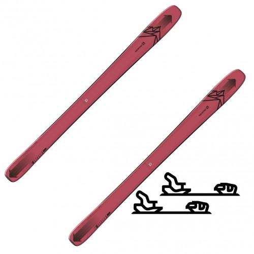 Salomon N QST Stella 106 Pink/Black - Slalomskipakke med binding