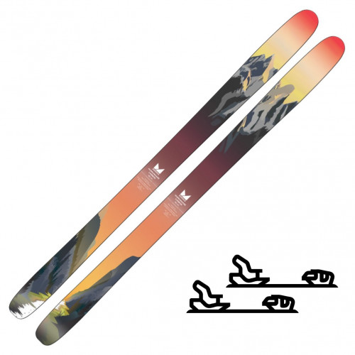 SGN Skis Hurrungane Carbon Sunset Artwork - Randoneeskipakke med binding