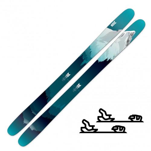 SGN Skis Rakkar Teal Artwork - Randoneeskipakke med binding