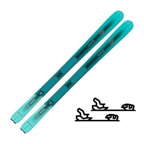 Salomon N Mtn Explore 88 W Light Blue/Turquoise - Slalomskipakke med binding