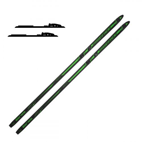 Åsnes Mountain Race 48 Green - Langrennskipakke med binding