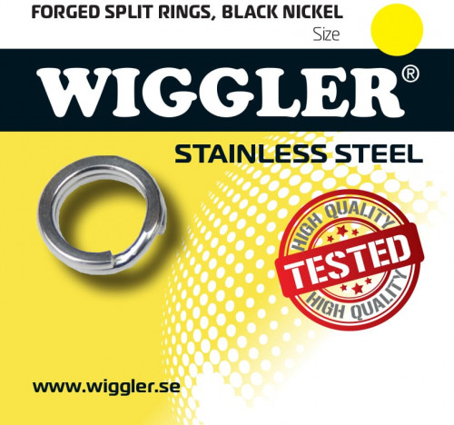Wiggler Splitringar Black Nickel