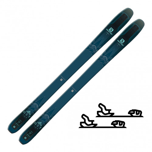Salomon N QST Lux 92 Dark Blue/Light Blue - Randoneeskipakke med binding